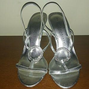 Martinez Valero Silver Heels